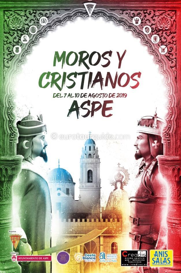 Aspe Moors and Christians Fiesta Virgen de las Nieves 7th-10th August 2019