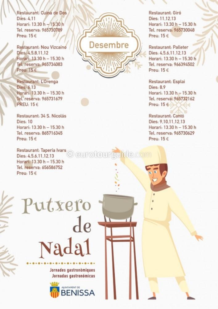 Benissa Putxero de Nadal 4th-13th December 2020