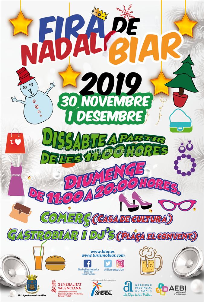 Biar Christmas Fair 3oth November & 1st December 2019