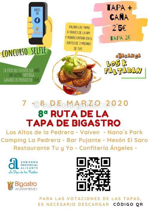 Bigastro 8th Ruta de la Tapa 7th & 8th March 2020