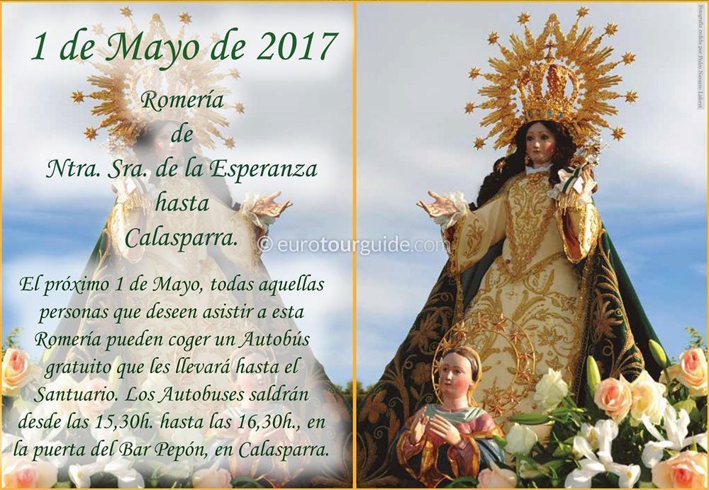 Calasparra Romeria  Ntra. Sra. de la Esperanza 1st May 2017