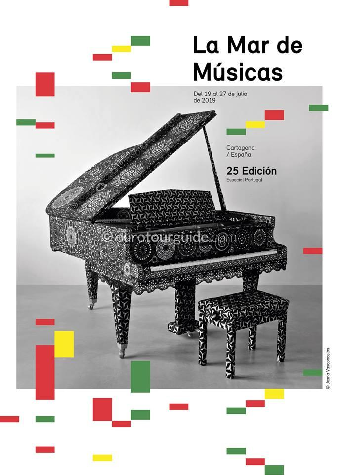 Cartagena 25th La Mar de Musicas Festival Programme 19th-27th July 2019