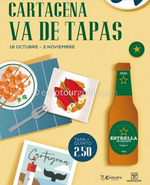 Cartagena 5th Va de Tapas 18th October to 3rd November 2019