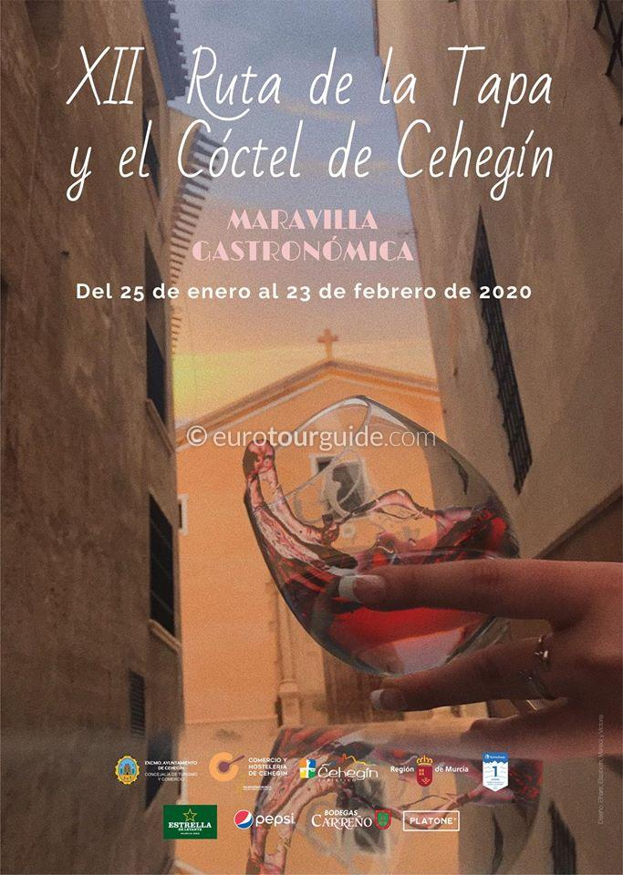 Cehegin 12th Tapas & Cocktail Route 25th January - 23rd February 2020