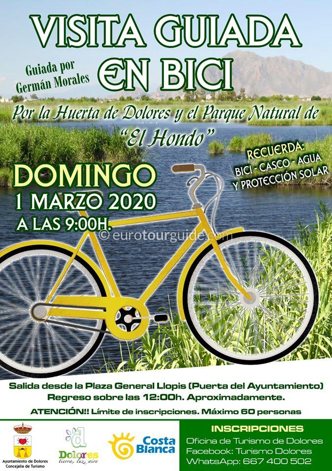 Dolores Free Guided Bike Tour 1st March 2020