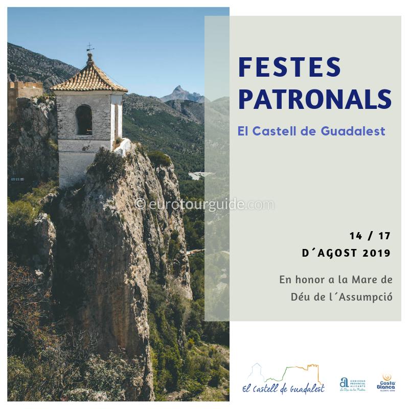 Guadalest Fiesta Virgen de la Asunción 14th-17th August 2019