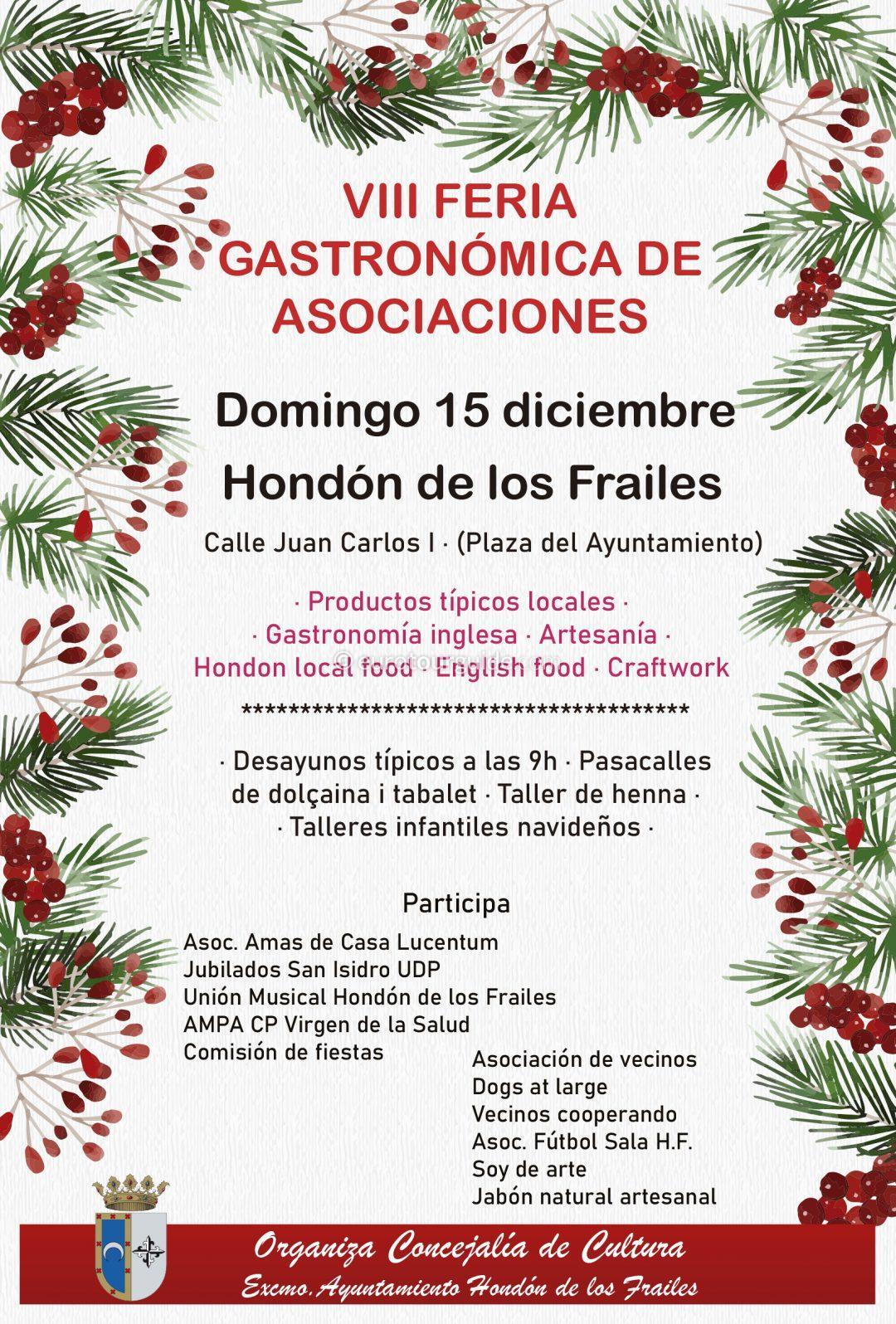 Hondon de los Frailes Gastronomic Fair 14th December 2019