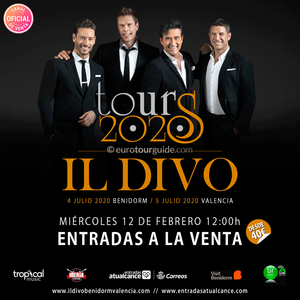 EuroTourGudie Coach Tour 05th-06th July Il Divo Valencia