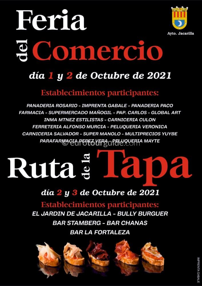 Jacarilla Tapas Route 2nd & 3rd October 2021