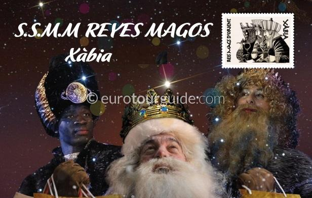 Javea / Xabia Three Kings arrive by Boat 5th January 2020