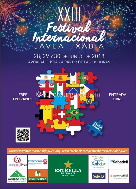 Javea Xabia 23rd International Festival 28th-30th June 2018