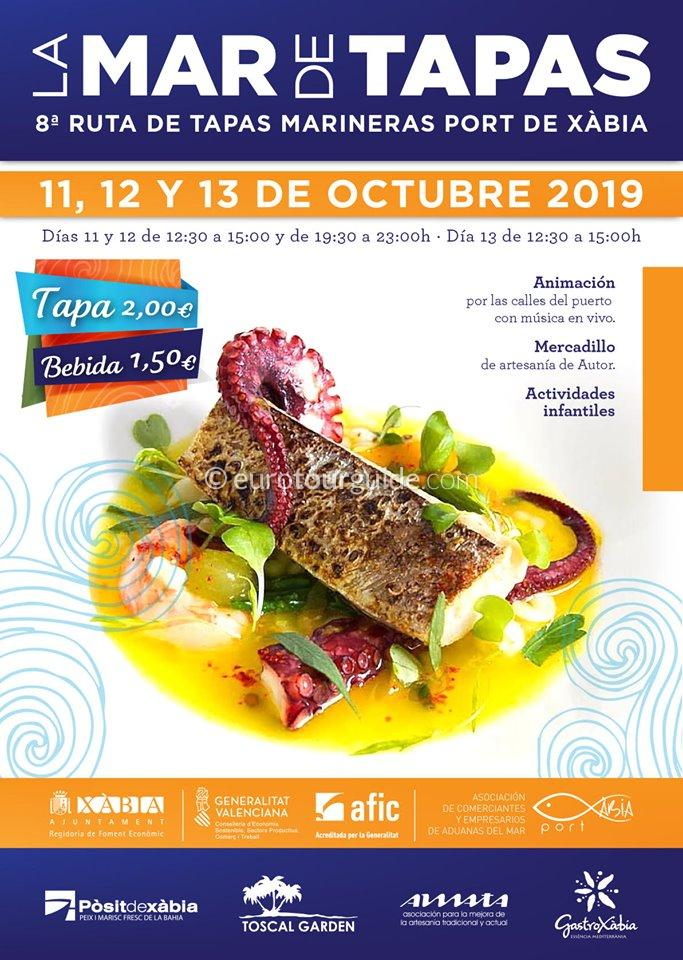 Javea Marine 8th Tapas Route 11th-13th October 2019