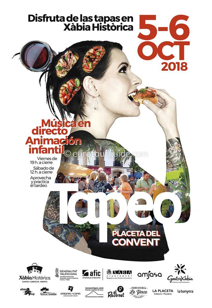 Javea Tapeo Tapes a Xàbia Històrica 5th & 6th October 2018