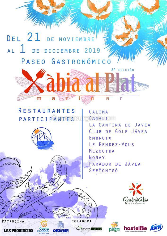 Javea al Plat Mariner Seafood Gastronomy 21st November - 1st December 2019