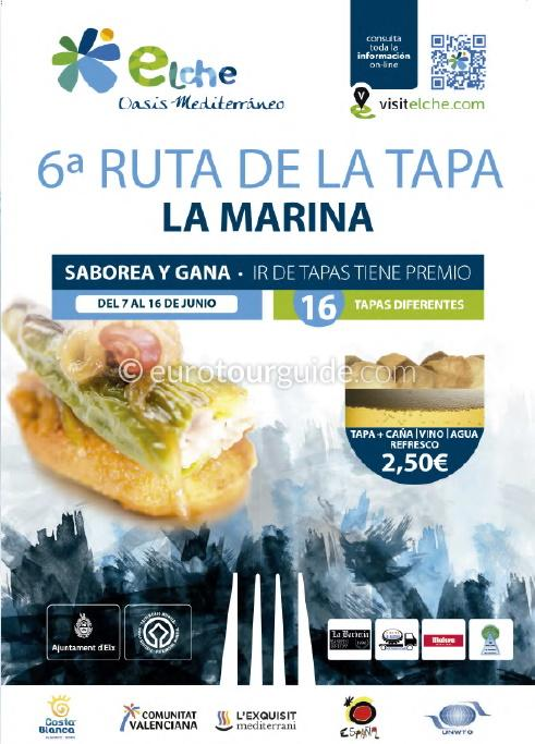 La Marina 6th Tapas Route 7th-16th June 2019