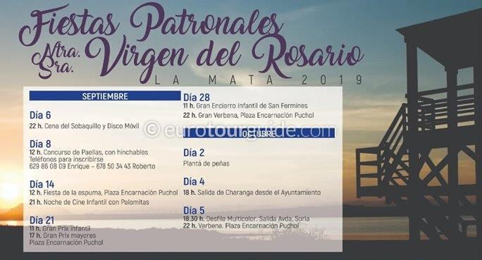 La Mata Fiesta Del Rosario 6th September - 5th October 2019