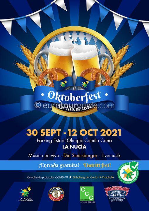 La Nucia Beer Festival Oktoberfest 30th September-12th October 2021
