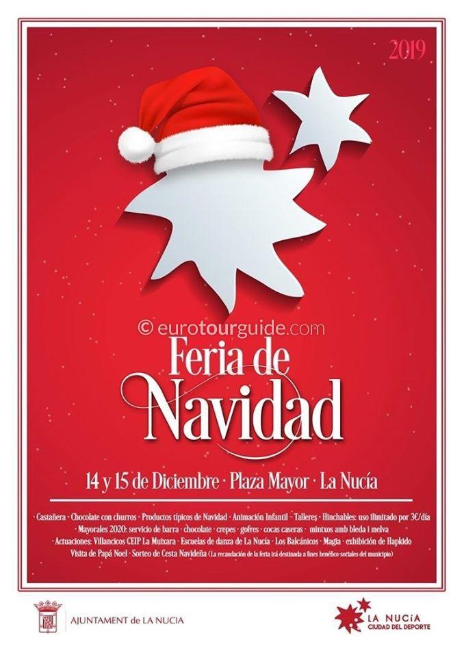 La Nucia Christmas Market Feria de Navidad 14th & 15th December 2019