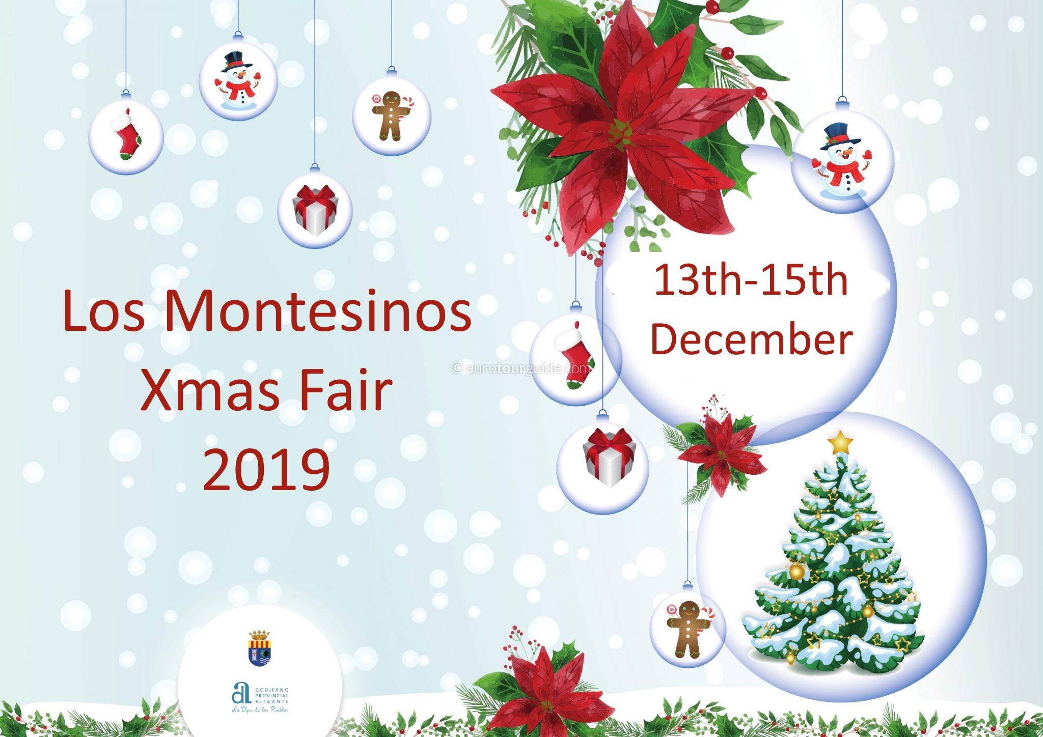 Los Montesinos 9th Christmas Market 13th-15th December 2019