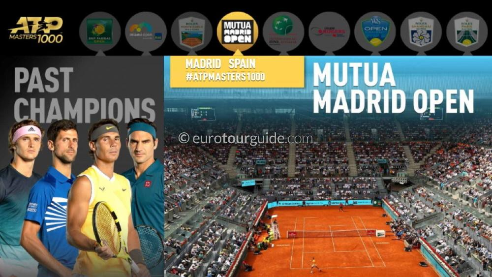 EuroTourGuide Coach Tour APT Tennis Madrid Open 4th-6th May 2020