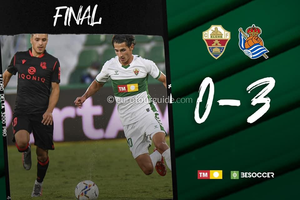EuroTourGuide Match Report Elche CF v Real Sociedad