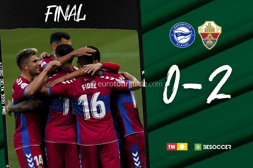 EuroTourGuide Match Report Alaves v Elche CF