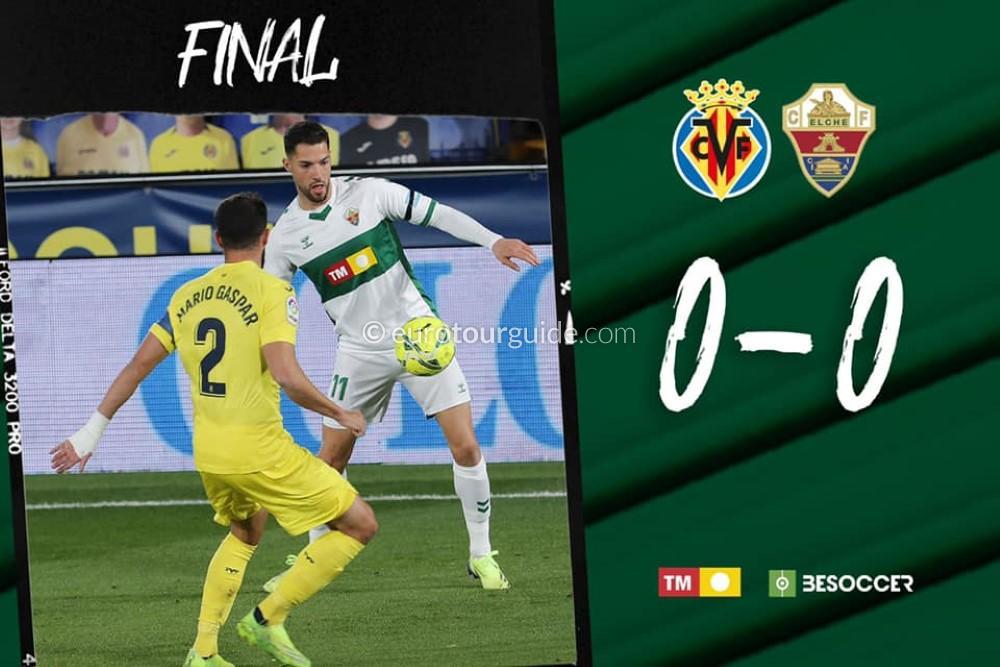 EuroTourGuide Match Report Villarreal v Elche CF6th December 2020