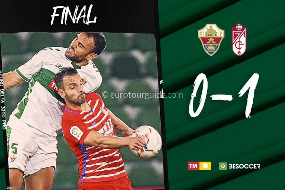 EuroTourGuide Match Report Elche CF v Granada 13th December 2020
