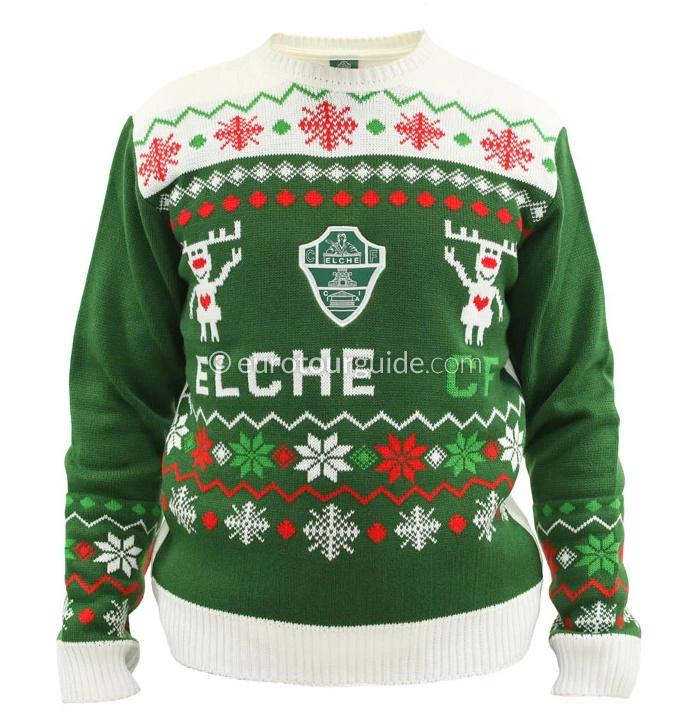 EuroTourGuide Elche CF Christmas Jumper & Matches