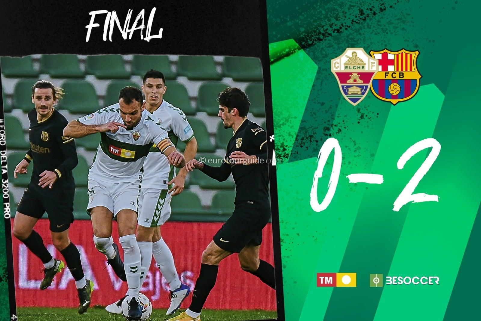EuroTourGuide Elche CF Match Report v Valladolid and Barcelona 2021