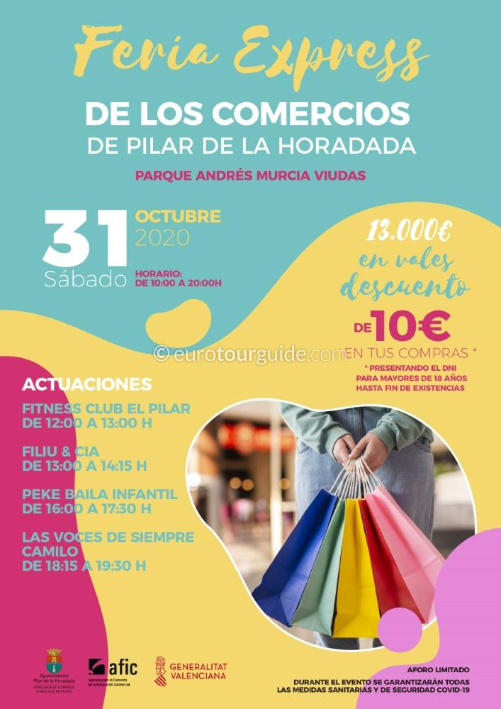 EuroTourGuide Pilar de le Horadada Express Discount Shopping Fair 31st October 20