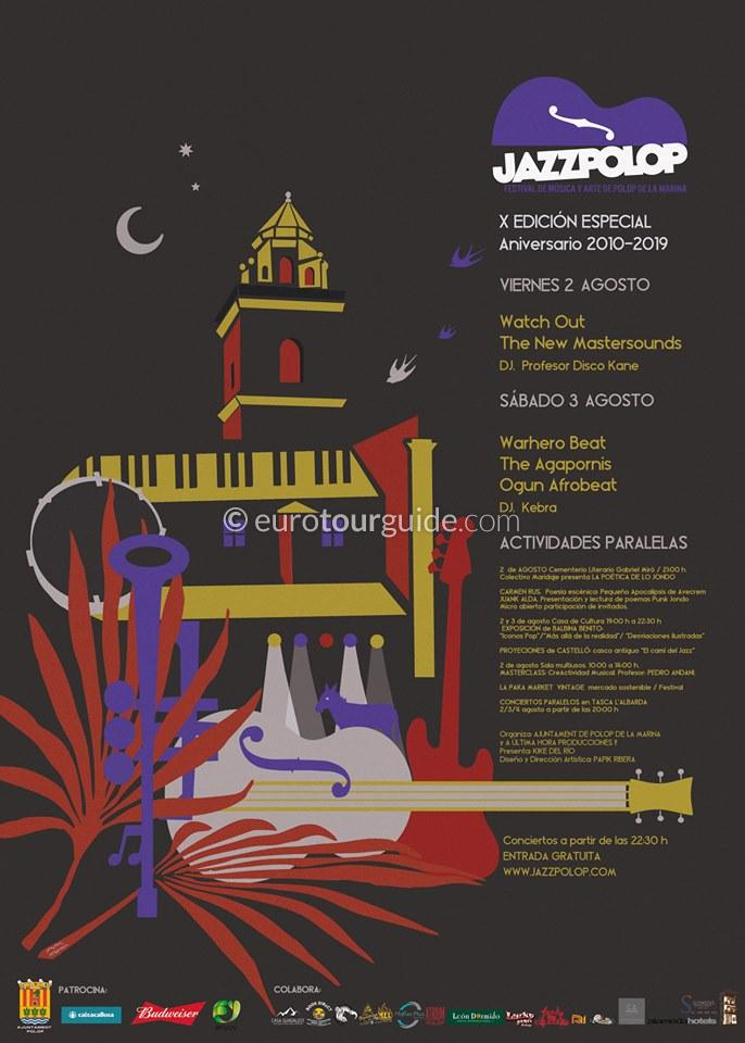 Polop Jazz 10th Festival of Music 2nd & 3rd August 2019