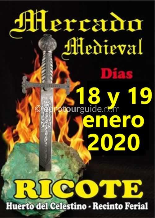 Ricote Medieval Market 18th & 19th January 2020