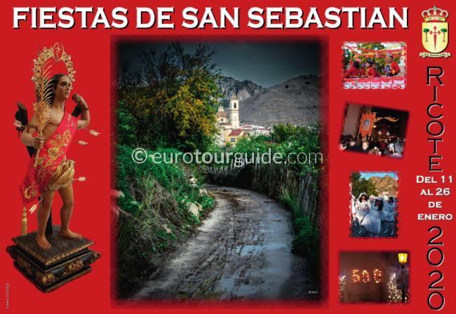 Ricote Patron Saint Fiesta San Sebastian 11th-25th January 2020