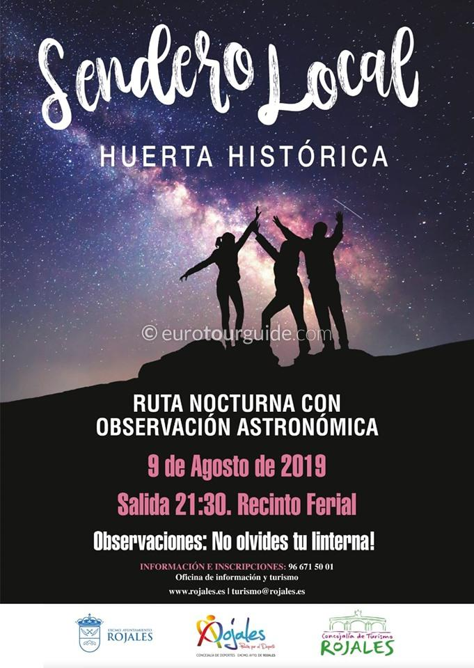 Rojales Free Guided Walk Nocturnal Countryside 9th august 2019