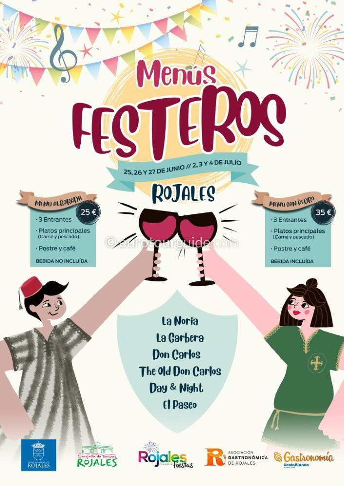 EuroTourGuide Coach Tours Rojales Fiesta Menus 25th-27th June & 2nd-4th July 2021