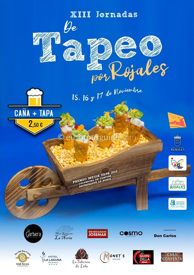 Rojales 13th Tapas Route 15th-17th November 2019