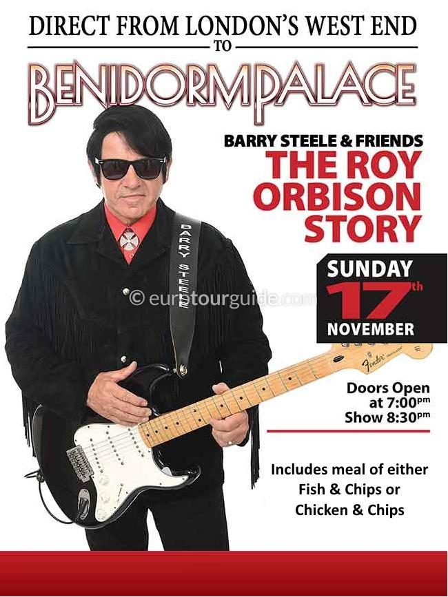 EuroTourGuide Coach Tour 17th November Roy Orbison Tribute Benidorm Palace