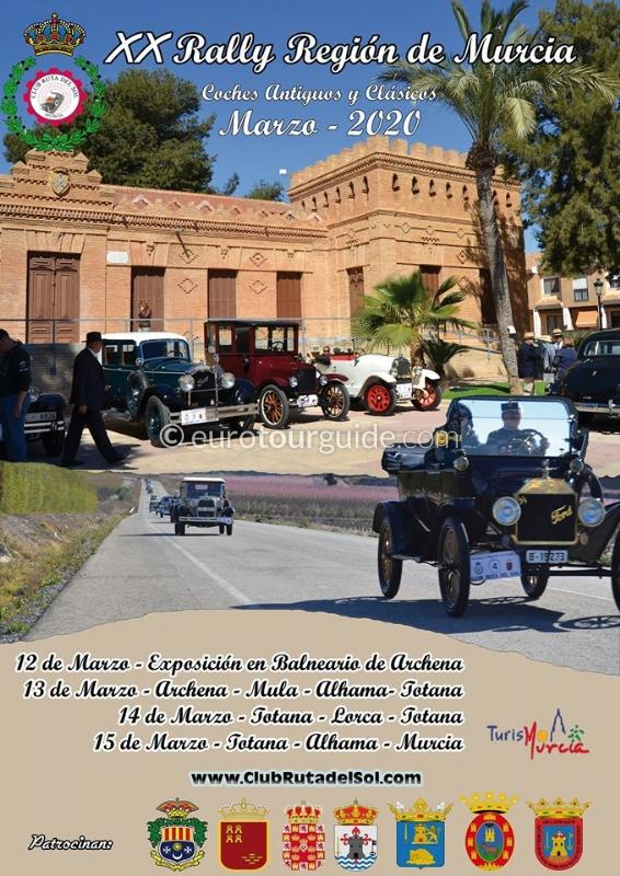 Region of Murcia Antique Car Rally 12th-15th March 2020