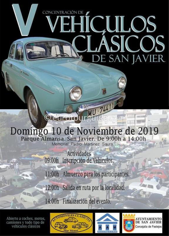 San Javier 5th Classic Car Rally 10th November 2019