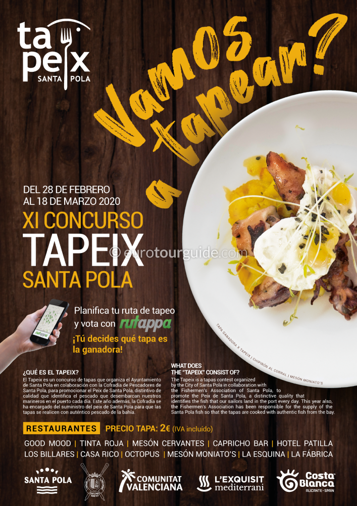 Santa Pola 11th Tapeix 28th February to the 18th March 2020