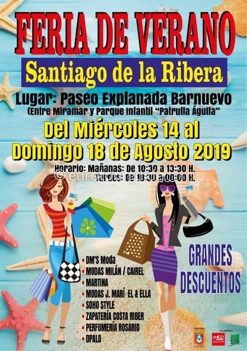 Santiago de la Ribera Summer Discount Fair 14th-18th August 2019