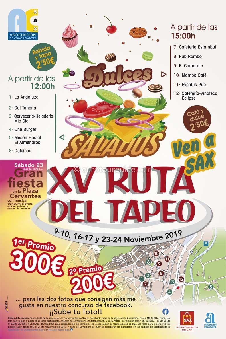 Sax 15th Tapas Route XV Ruta del Tapeo November 2019