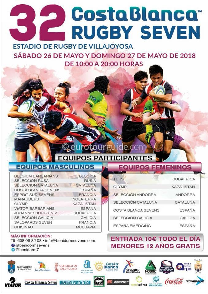 Villajoyosa 32nd  International Rugby Sevens 25th & 26th May 2018