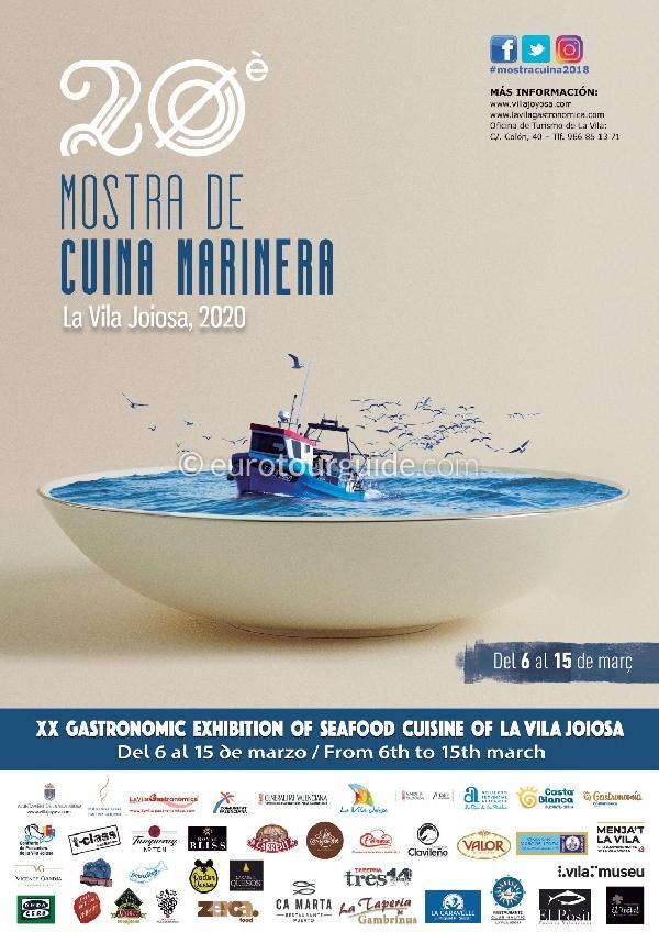 Villajoyosa Cuina Marinera Menus 6th-15th March 2020